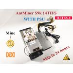 Used AntMiner S9k 14T With PSU Bitcoin BTC BCH Miner Better Than Antminer S9 13.5t 14t S9j 14.5t S9 SE S11 S15 S17 T9+ T15 T17