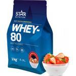Star Nutrition Whey 80 1kg - Strawberry & Milk