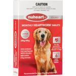 Nuheart Generic Heartgard Tabs For Large Dogs 23 To 45kg (Red) 12 Tablet