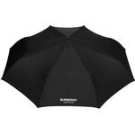 Burberry - paraply med logotyp - unisex - polyester/järn/stål/glasfiber - one size - Svart