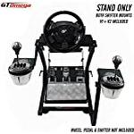 GT Omega Steering Wheel Stand PRO for Thrustmaster T500 RS Force Feedback Gaming Wheel & TH8A Shifter Mount V2 - Fanatec Clubsport PS4 Xbox PC - Tilt-Adjustable to Ultimate Sim Racing Experience
