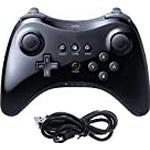 CooleedTEK Black Classic Wireless Pro Controller Gamepad Joypad Remote Game Controller for Nintendo Wii U