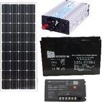 Solpanelspaket för stuga - 230V 300W 100Wp