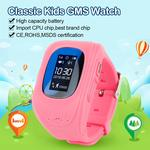 Anti Lost Q50 OLED Child GPS Tracker SOS Smart Monitoring Positioning Phone Kids GPS Baby Watch Compatible IOS & Android Gift