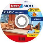 Tesa P-list 55703-00101-00 Tätningslist EPDM, 100 m, 9 mm x 5.5 mm Brun