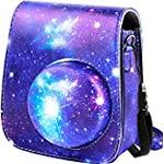 Protective & Portable Case Compatible with Fujifilm Instax Mini 11 Instant Camera with Accessory Pocket and Adjustable Strap. (Galaxy)