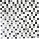 Mosaik aluminium antracit svart 31,7x31,7 cm