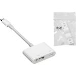 VivoLink - Adapter för video / ljud - HDMI / Lightning - Lightning (hane) till HDMI, Lightning (hona) - för Apple iPad/iPhone (Lightning)