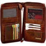 Reseplånbok B Away Leather Brown - utan gravyr