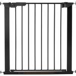 Spänngrind Premier Pressure Gate med 1 förlängning BabyDan, Svart 73,5-86,5 cm