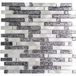 Mosaik aluminium silver blank 30x30,4 cm