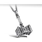 """Halsband """"Tors hammare"""" med Kungslänk 3mm -längd 60 cm"""