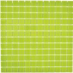 Mosaik glas Crystal 30x30 cm grön