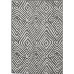 160X230 Modern Matta Savanna Mörkgrå/Ljusgrå