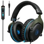 Sades R3 Gaming Bass Surround Stereo Over Ear Game Headset med mikrofon Volymkontroll
