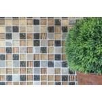 mosaik ws mystic sq. cryst/stone mix gold/brown struct