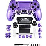 Canamite Replacement Parts Full PS4 Controller Housing Shell Protective Case Cover Button Kit for PlayStation 4 DUALSHOCK 4 Controller (purple)