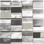Mosaik aluminium silver blank 30,1x30,1 cm