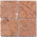 Marmor Rosso verona tumlad 10x10cm