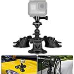 Action Camera Suction Cup Mount Motion Camcorder Car Windshield Window Bonnet Door Boot Lid Holder/w Ball Head Compatible with GoPro Sony DJI OSMO Action Akaso Apeman YI Sports DV Cam Vehicle Mounts