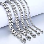 Pansarlänk -Armband i rostfritt stål -Silver 5mm