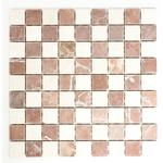 mosaik ws hainan sq. checkerboard rosso verona/bott ant