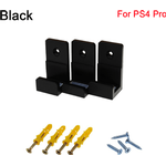 Wall Mount Console Stand Host Rack BLACK 2 SETS FOR PS4 PRO