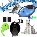 Vatten renare Husdjur Djurvalp Elektrisk cirkulationsdryckvattenfontän Waterer Bowl Cykelmatare Hundkatt