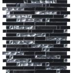Mosaik glas aluminium svart