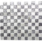 Mosaik aluminium silver blank 32,7x30,2 cm