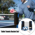 Table Tennis Ping Pong Set 2x Paddle Bats & Extending Net & 3 Ba