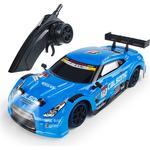 1/16 2.4G 4WD 28cm Drift Rc Bil 28km / h Med Front LED Light RTR Toy