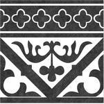 Klinker Orleans Vit-Svart Mönstrad 25x25 cm