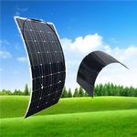 Portable Semi flexible Solar Panel 100W 12V monocsytalline Solar Cell 100W; Monocrystalline Solar Panel RV Boat Home