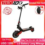 Newest Zero 10X scooter dual motor electric scooter 52V 2000W e-scooter 65km/h double drive high speed scooter off road