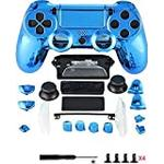 Canamite Replacement Parts Full PS4 Controller Housing Shell Protective Case Cover Button Kit for PlayStation 4 DUALSHOCK 4 Controller (blue)