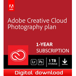 Adobe Creative Cloud Photography (1TB lagring) - 1-års prenumeration