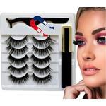 Magnetiska ögonfransar 5 par magnetisk eyeliner party fransar