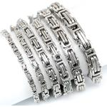Kejsarlänk -Armband i rostfritt stål -Silver 5mm, 8mm resp 10mm