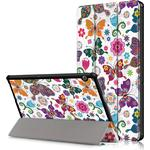 Huawei MediaPad T5 10 - Møntret cover/taske - Blommor og fjäril