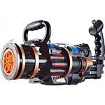 Aionyaaa Elektrisk Gatling Bubble Machine Barn Leksak Barn Utomhus Leksak Gatling Bubble Gun Svart