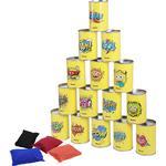 Winomo Ibasetoy Bean Bag Can Toss Game Set Party Levererar Tenn Can Alley Spel för barn födelsedagsfester 15 tenn burkar och 4 bönpåsar ingår Som v...