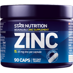 Zinc, 25 mg, 90 caps