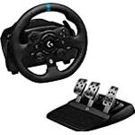 Logitech G923 Racing Wheel and Pedals, Trueforce up to 1000 Hz Force Feedback, Responsive Pedal, Dual Clutch Launch Control, Genuine Leather Wheel Cover for Xbox Series X|S, Xbox One, PC - Black
