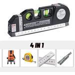 4 in 1 Multiverktyg, laser mätarverktyg, måttband, vattenpass,