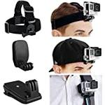 CamKix Head and Backpack Mount Bundle compatible with GoPro Hero 8 Black, Hero 7, 6, 5, Black, Session, Hero 4, Session, Black, Silver, Hero+ LCD, 3+, 3, DJI Osmo Action