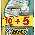 BIC Comfort 2 Pouch Rakhyvlar 15-pack