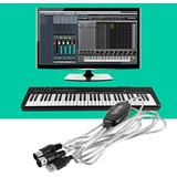 Beckham Ny Usb In-out Midi Interface Cable Converter Pc till Musik Tangentbord Sladd