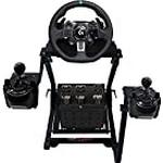 GT Omega Steering Wheel Stand PRO for Logitech G923 G29 G920 Thrustmaster T500 T300 TX & TH8A Shifter Mount V2 - PS4 Xbox Fanatec Clubsport - Tilt-Adjustable Design for Ultimate Sim Racing Experience