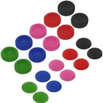ZedLabz Konkav & konvex mjukt silikon tumgrepp för Sony PS4 analoga pinnar-20 pack Multi färg